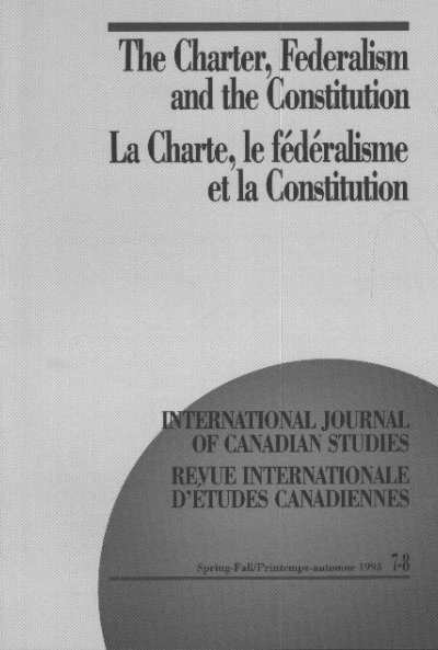 The Charter Federalism And The Constitution La Charte Conseil