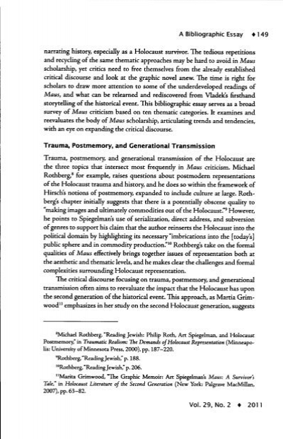 maus essay introduction Maus essay 1113 words | 5 pages maus paper art spiegelman's maus, is a unique way of looking at history through the use of comics, spiegelman allows the reader to draw their own conclusions within the parameters of the panes of the comic.