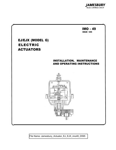 Imo 49 Ejejx Model G Electric Actuators