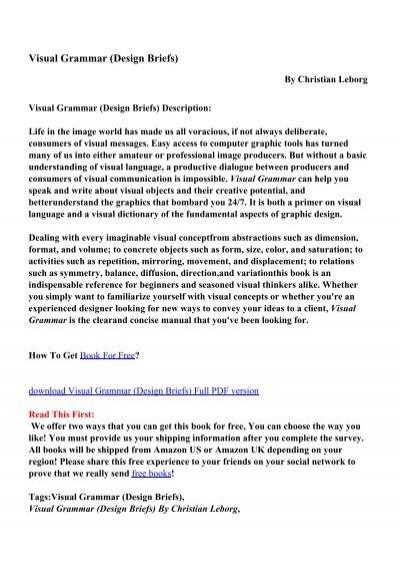 visual grammar christian leborg pdf