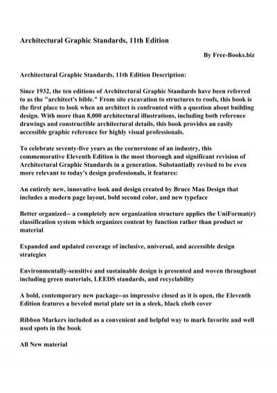 Architectural graphic standards 11th edition pdf ebooks free architectural graphic standards 11th edition pdf ebooks free fandeluxe Choice Image