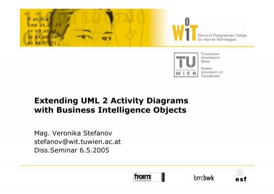 Extending uml 2 activity diagrams with business intelligence objects 17107815g ccuart Gallery