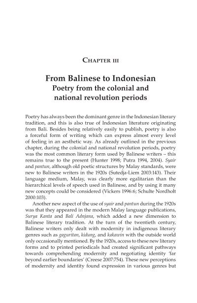 from balinese to n books and journals