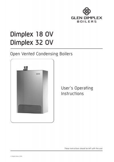 Dimplex Open Vent User Guide - Glen Dimplex Boilers