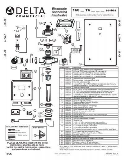 Teck Electronic Flush Valve Installation Guide