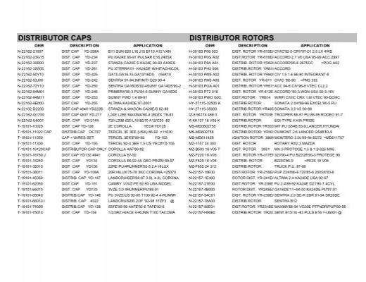 Ignition Parts - CES Autoparts