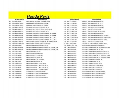 Genuine Honda 11810-PD2-000 Timing Belt Cover