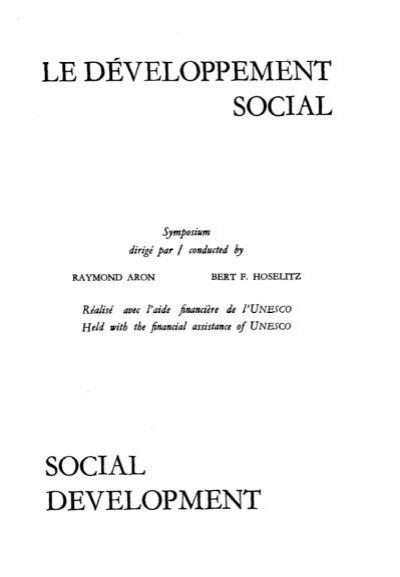 Social Development Le Developpement Social Unesdoc Unesco