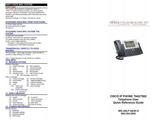 Cisco Voice Guide