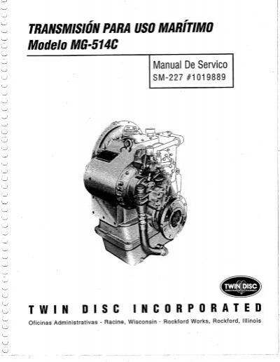 mg 514c 01a frt cover tif twin disc rh yumpu com twin disc 514 service manual twin disc mg 514c service manual