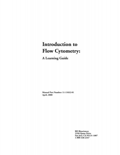 Introduction to flow cytometry a learning guide | flow cytometry.