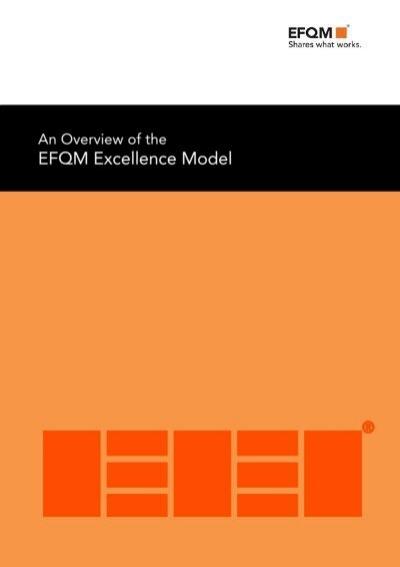 Overview EFQM 2013 v1