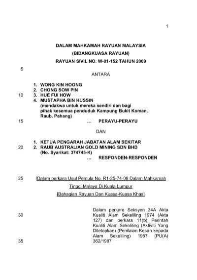 1 Dalam Mahkamah Rayuan Malaysia Bidangkuasa