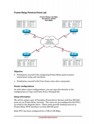 Frame Relay Point-to-Point Lab - The Cisco Learning Network