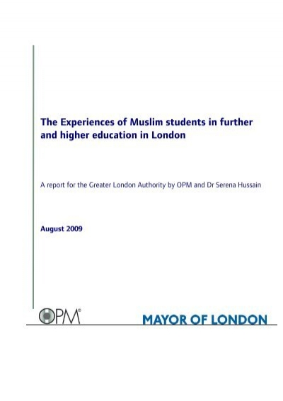 The Experiences Of Muslim Students In Further And Higher Education