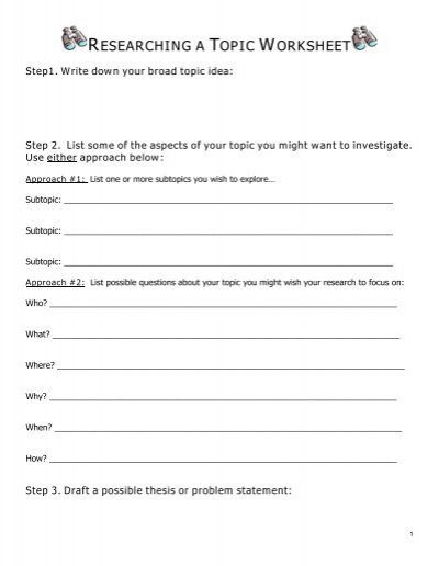worksheet 8 ittt research paper What is a research paper research writing exercises exercise: can the topic be researched critical reading exercises worksheet:.