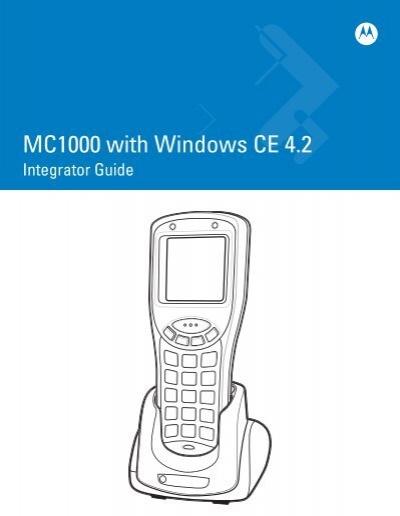 MC1000 with Windows CE 4 2 (P/N 72E-69841-02 Rev  A) - Symbol