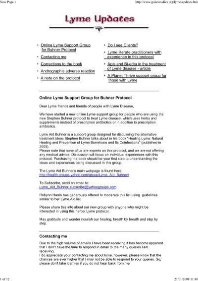 Buhner Protocol Lyme Update  pdf - Free