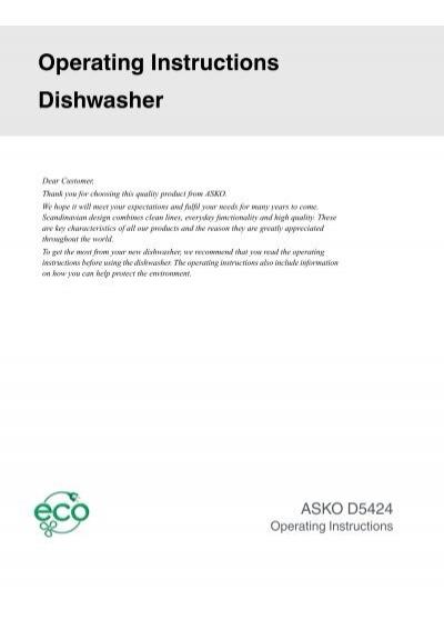 d5424ss user manual asko rh yumpu com asko dryer instruction manual asko dryer instruction manual