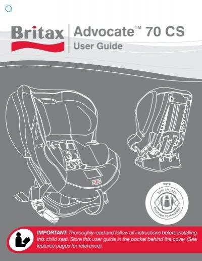 britax advocate 70 cs user manual rh yumpu com Britax Decathlon Car Seat Recall Britax Boulevard Car Seat