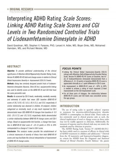 Vanderbilt Adhd Diagnostic Teacher Rating Scale