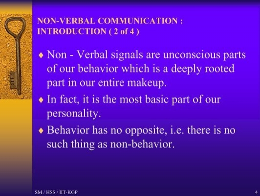 nonverbal communication in indonesia If we don't understand the non-verbal communication from different culture, it is possible that we can make a mistake of reading the other person incorrectly.