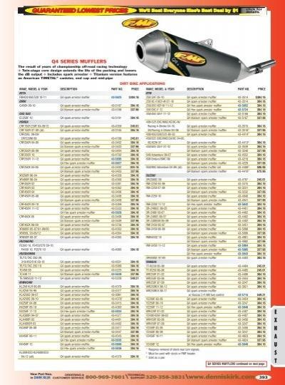 NEW DG RCM 4-Stroke Exhaust System Yamaha Warrior 87-04