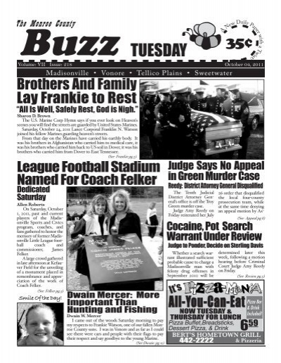 TUESDAY - Monroe County Tennessee News, Monroe County