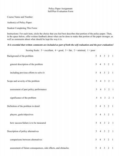 self evaluation essay assignment Self evaluation 1 write my essay | i need help with my school assignment write my essay we are the most trusted essay writing service.
