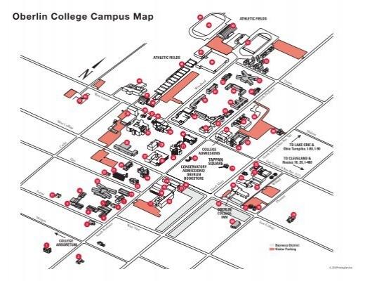 Oberlin Campus Map Oberlin College Campus Map