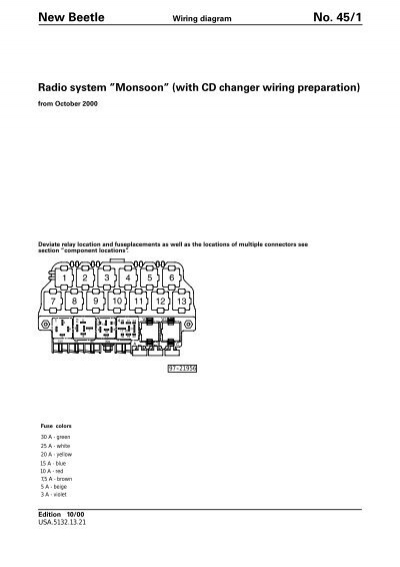 New Beetle No 45 1 Wiring Diagram