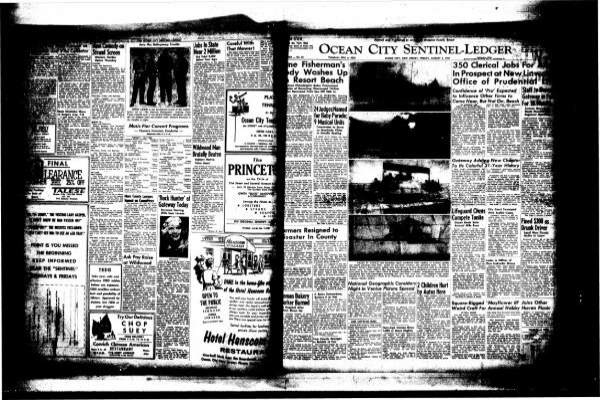 Aug 1957 On Line Newspaper Archives Of Ocean City
