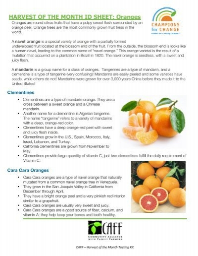 Oranges Community Alliance With Family Farmers
