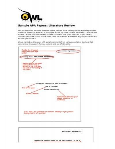 Sample literature review apa professional presentation ghostwriting service us