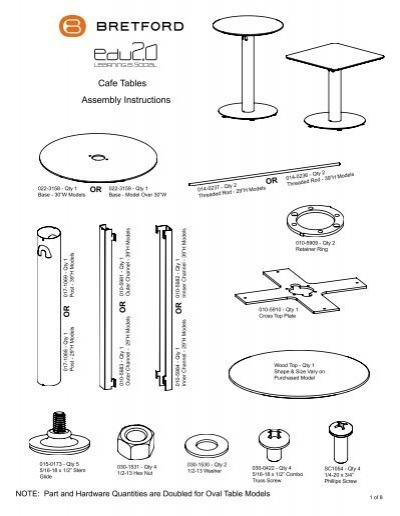 Explore Pedestal Base Cafe Tables Assembly Instructions Bretford Rh Yumpu Com Imaginarium Train Table Manual Instruction Template