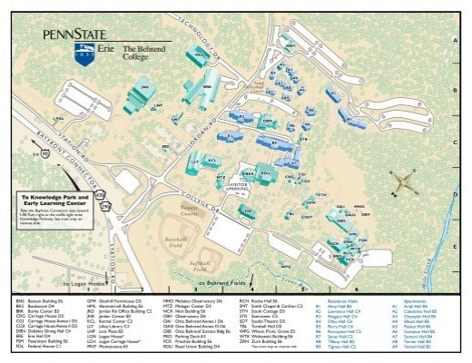 Campus Map   Penn State Erie