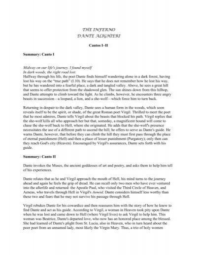 inferno de dante pdf