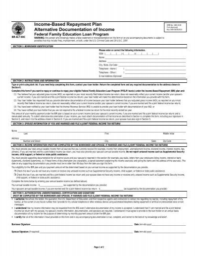 Repayment Plan Selection Form - CornerStone