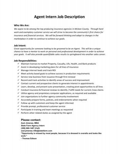 Marketing Intern Job Description Marketing Office Intern Job