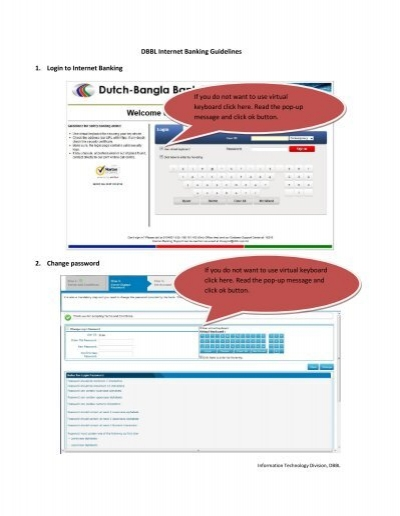 DBBL Internet Banking Guidelines 1. Login to Internet Banking 2 ...