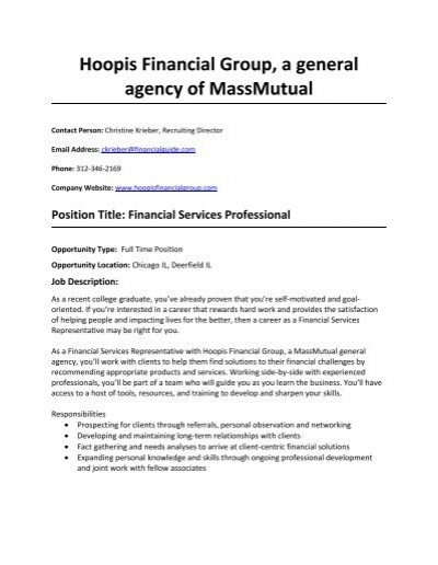 hoopis financial group a general agency of massmutual