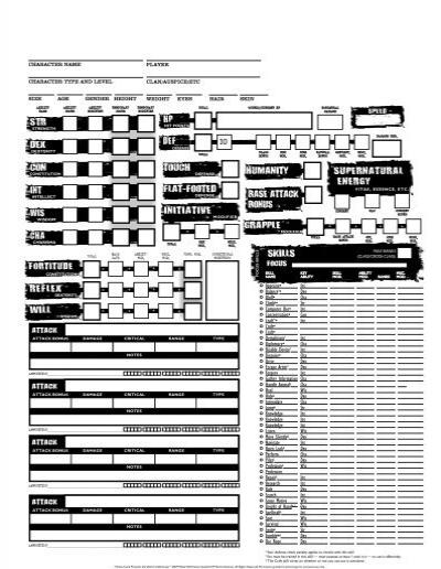 world of darkness mortal character sheet pdf