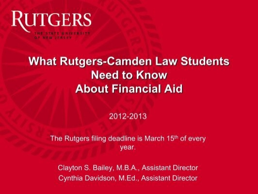 What You Need To Know About Financial Aid Rutgers School Of