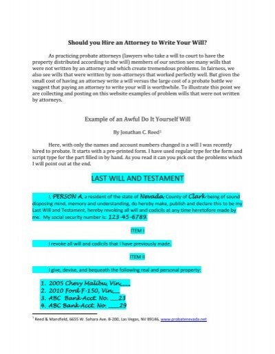 Last will and testament state bar of nevada solutioingenieria Images