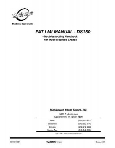 pat lmi manual ds150 manitex rh yumpu com Italika DS150 Respironics DS-150S