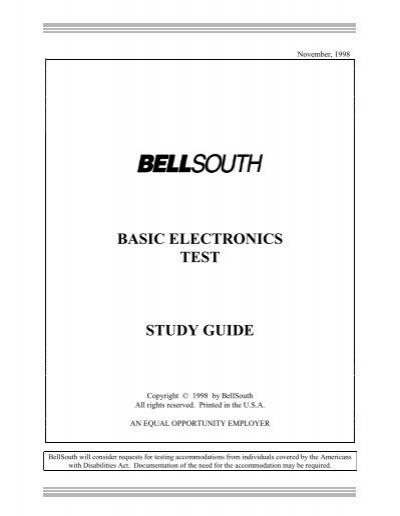 basic electronics test study guide rh yumpu com Basic Electronic Circuits Basic Electronic Symbols