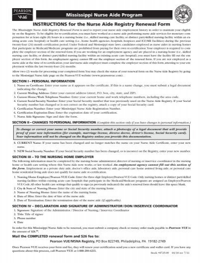 MS Renewal Form - Pearson VUE