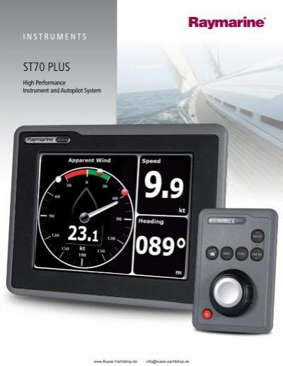 st70 plus busse yachtshop rh yumpu com raymarine st70 plus installation manual Raymarine SeaTalk Ng to SeaTalk To