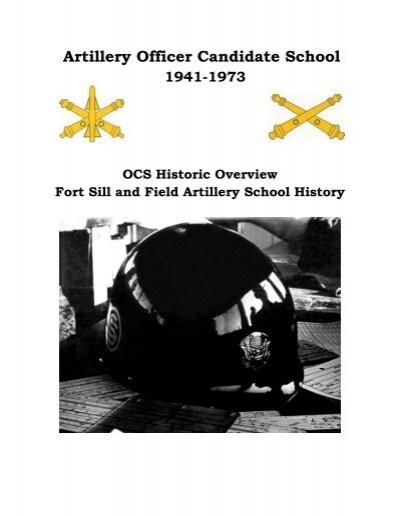Artillery officer candidate school field artillery ocs alumni chapter - Ocs officer candidate school ...