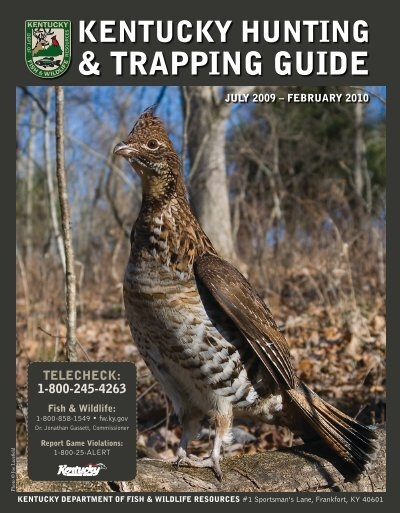 Trapping guide kentucky department of fish and for Ky fish and wildlife telecheck